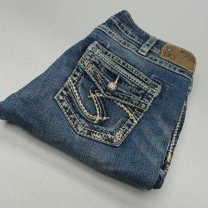Women's Silver Suki Jeans Factory Distressed 30x33